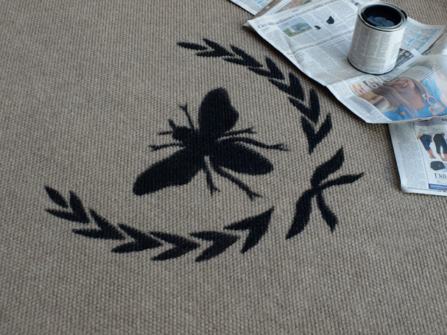 How to stencil a rug