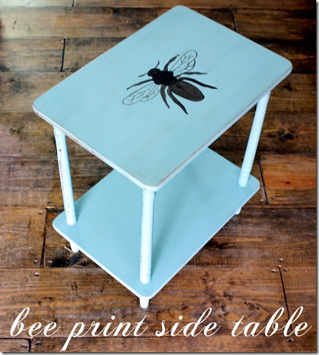 Annie Sloan Project: Bee Print Side Table