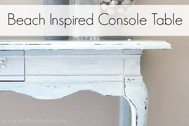 Beach Inspired Console Table
