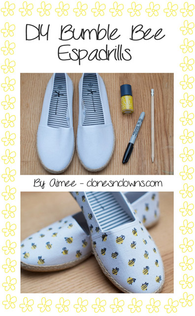 DIY Bumblebee Shoes