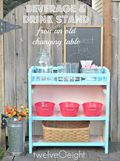 Charming Beverage Stand From A Changing Table