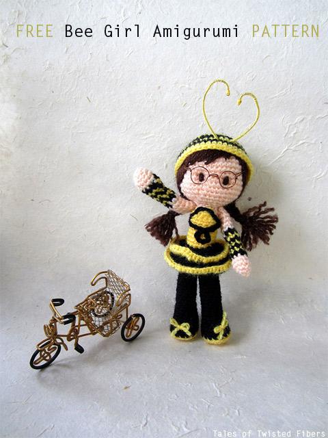 Free Bee Girl Amigurumi Pattern