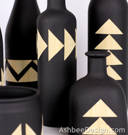 Up-cycled Bottles Creations