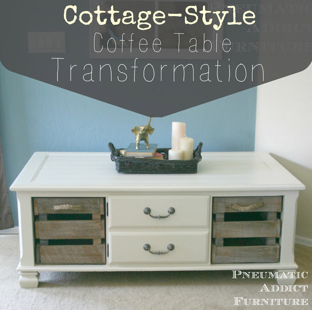 Cottage Style Coffee Table Transformation