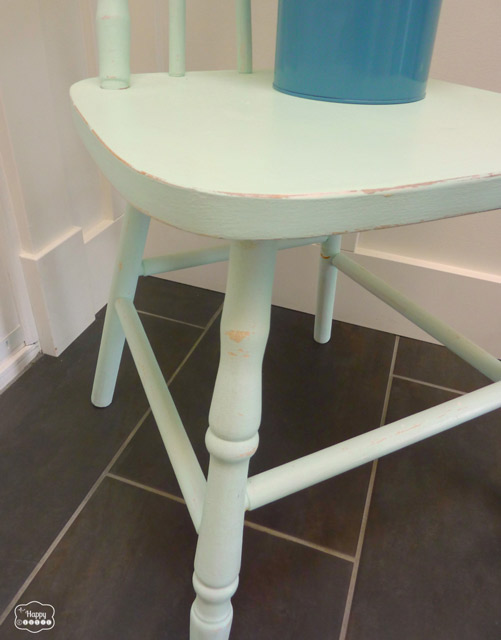 DIY Chalk-based Paint free mint chair legs