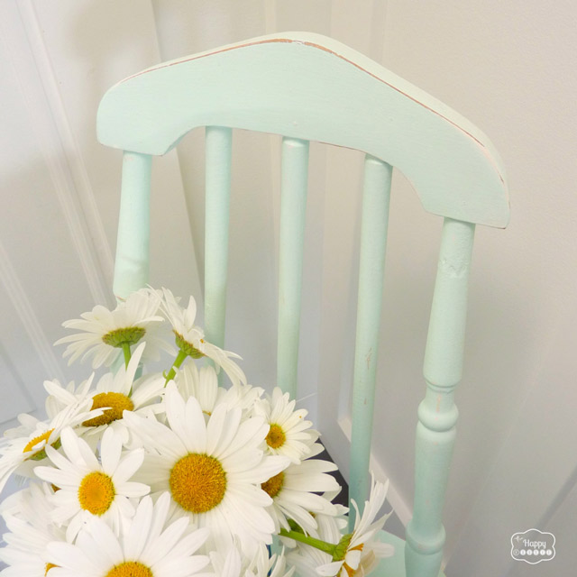 DIY Homemade Chalk-based Paint free mint chair revamp