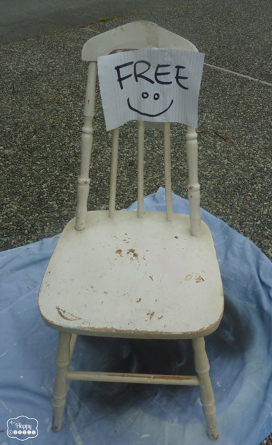 DIY Homemade Chalk-based Painted free chair in mint