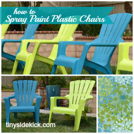 How to spray paint plastic furniture