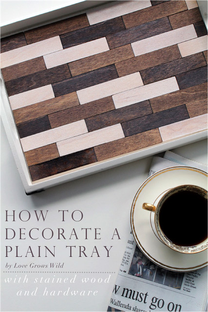 How to decorate a plain tray