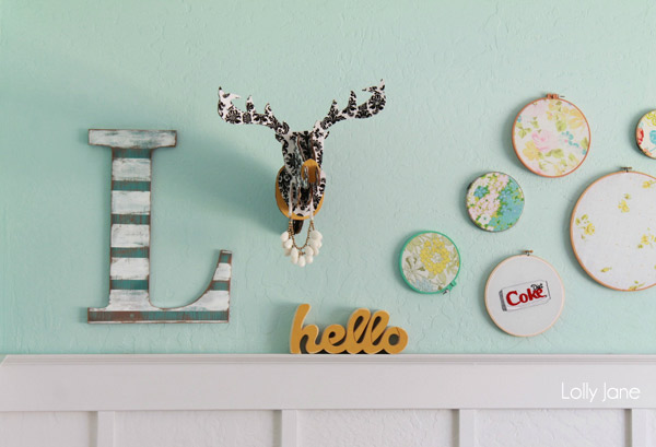 DIY Distressed Wall Art Letter
