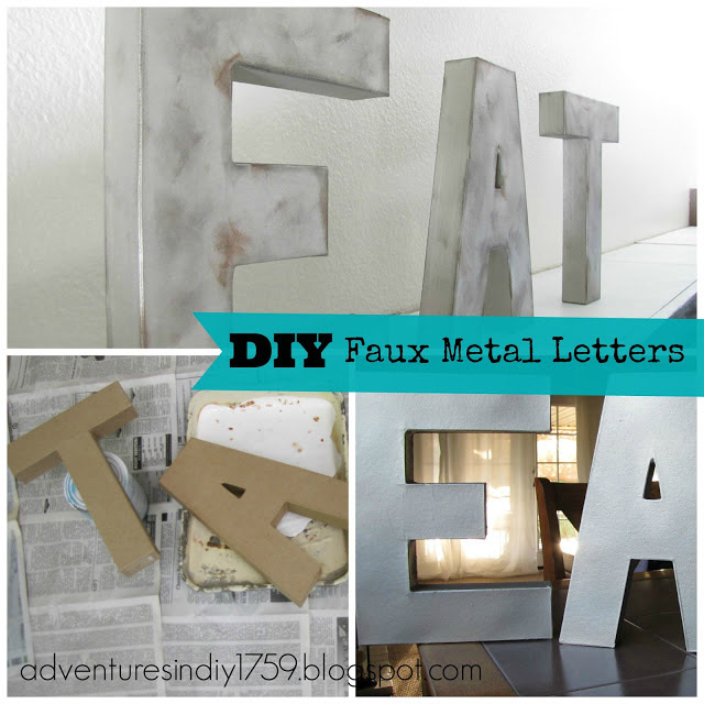 Metal Letters Wall Decor diy art wall decor - from dream to reality #76 - the d.i.y. dreamer