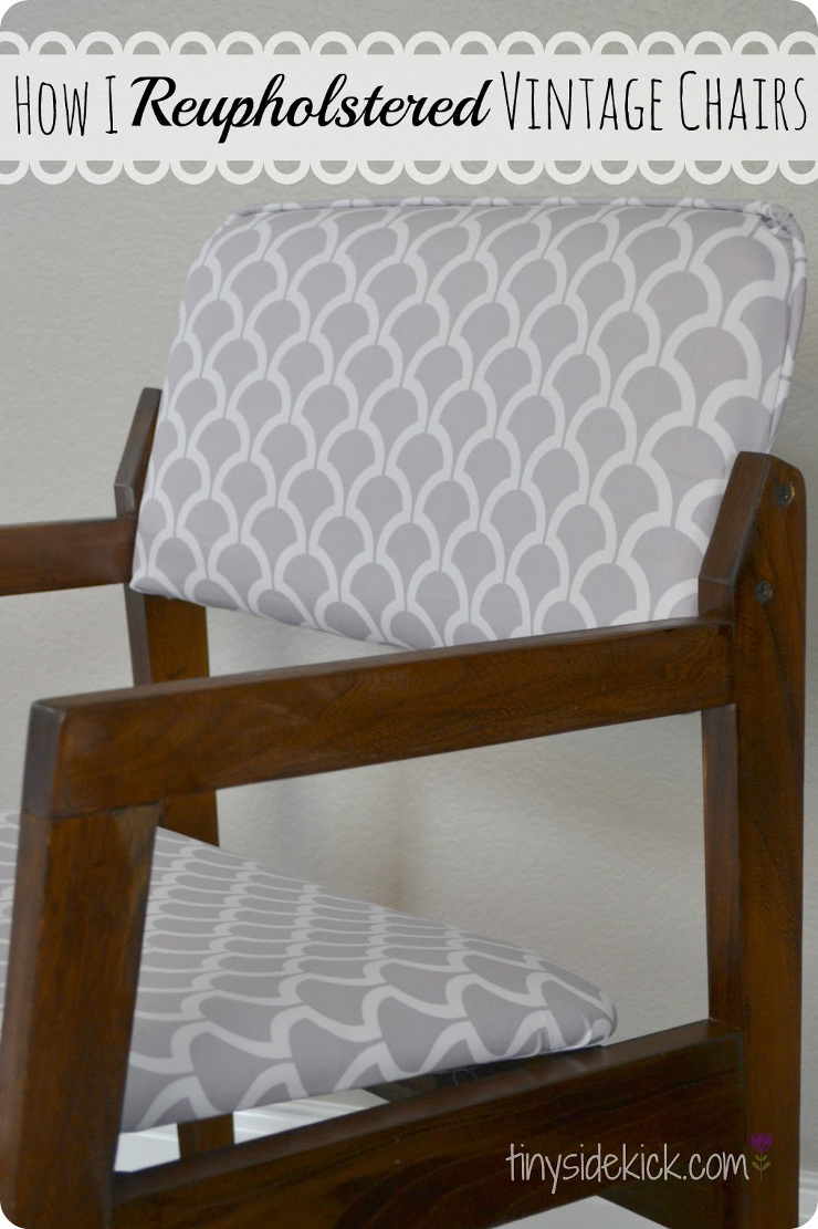 How to Reupholster Vintage Dining Chairs. A complete guide to how to reupholster vintage dining chairs.