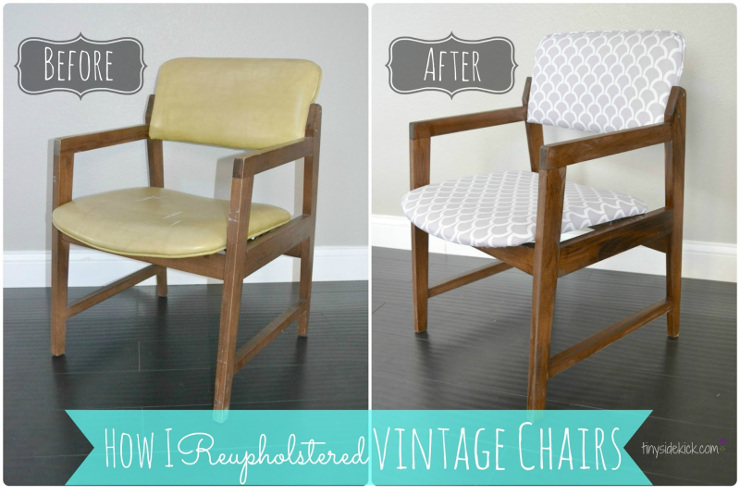 Reupholstering vintage dining chairs tiny sidekick for How to reupholster a chair