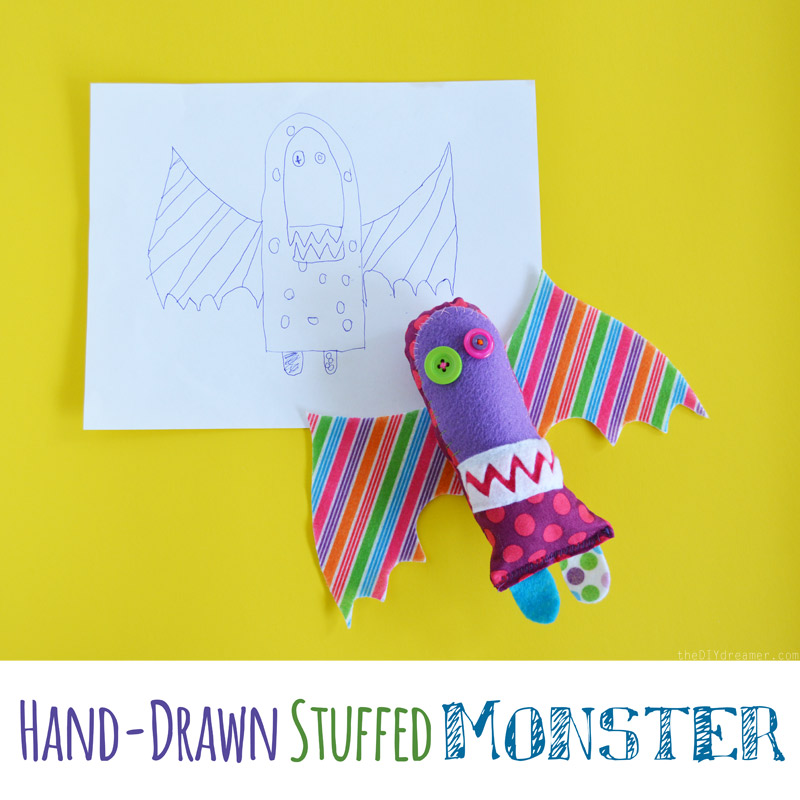 Hand-Drawn Stuffed Monster
