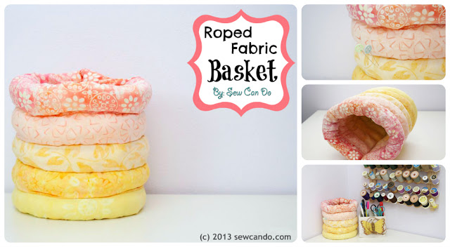 Roped Fabric Basket Tutorial