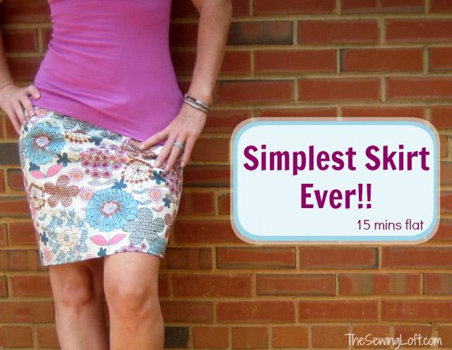 Simplest Skirt Ever - Super Easy Tutorial