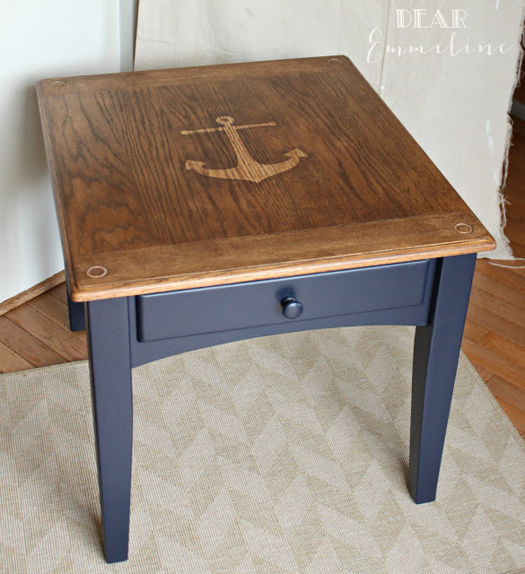 DIY Anchor End Table
