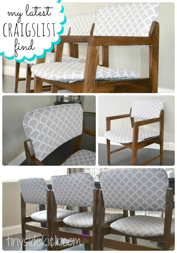 Reupholstering Vintage Dining Chairs Tiny Sidekick : vintage chair upcycle from thediydreamer.com size 700 x 1000 jpeg 168kB