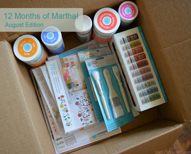 12 Months of Martha - Brand New Decoupage Crafting Line