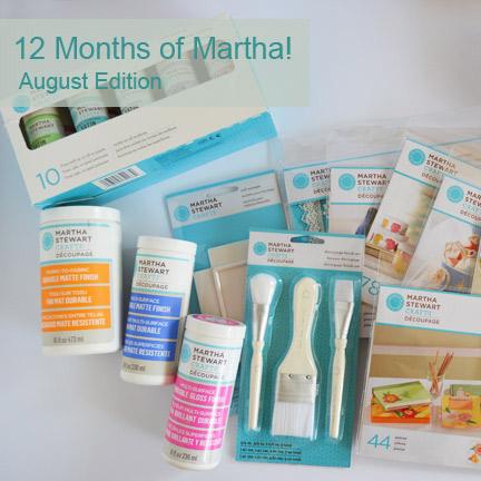 12 Months of Martha Stewart Crafts – August Supplies