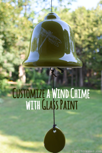 Customize a Wind Chime with Glass Paint