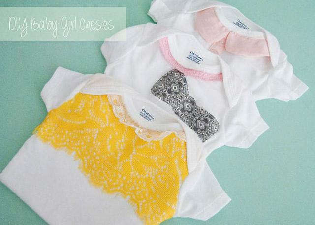 DIY Baby Girl Onesies