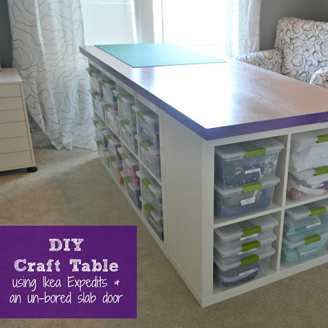 Craft and sewing room ideas the d i y dreamer for South shore crea collection craft table white