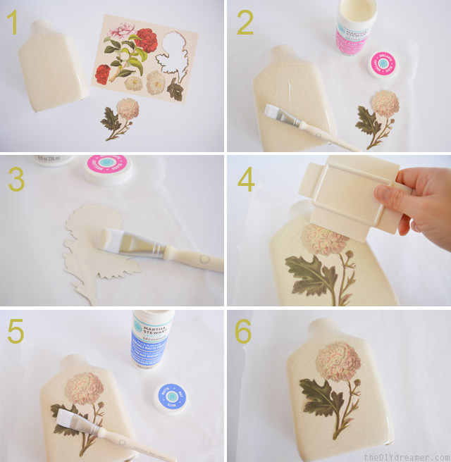 How to decoupage a vase