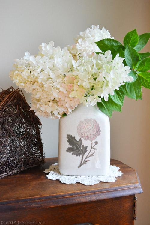 DIY Decoupage Vintage Vase - theDIYdreamer.com #12MonthsOfMartha #MarthaStewartCrafts