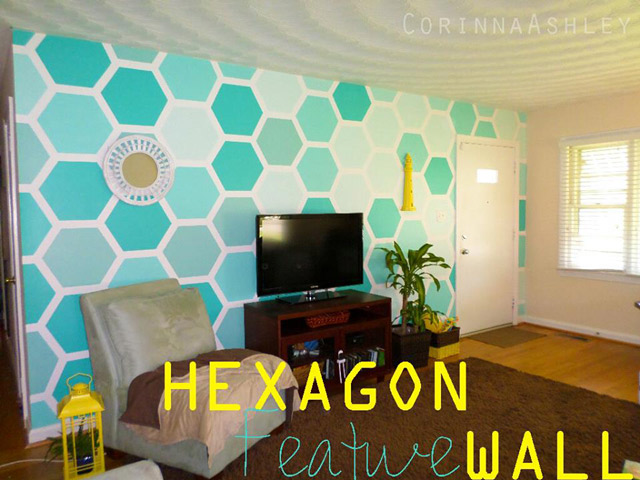 How to Stencil an Hexagon Wall