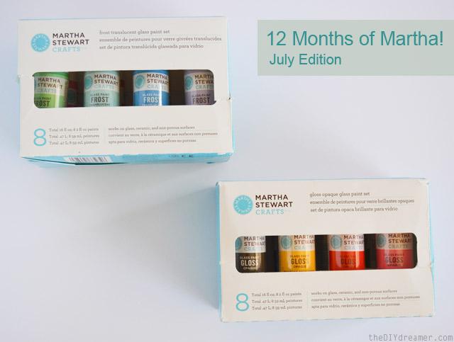 Martha Stewart Crafts - Glass Painting Supplies #12MonthsofMartha