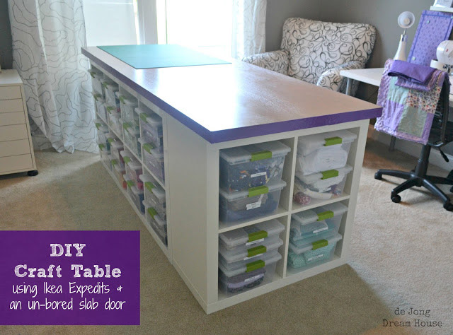 DIY Craft Table - PLUS storage space