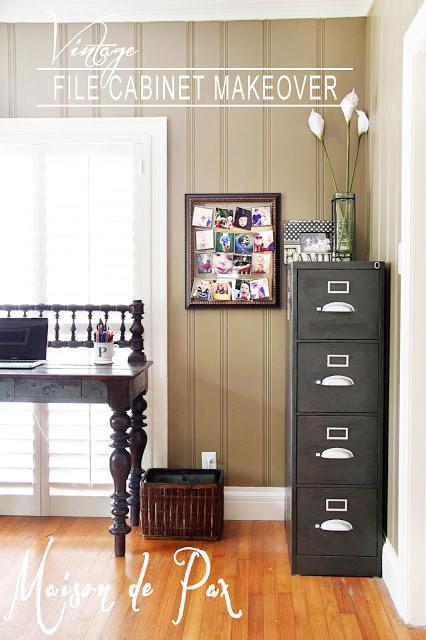 Vintage File Cabinet Makeover