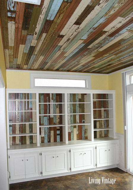 Reclaimed Beadboard Ceiling