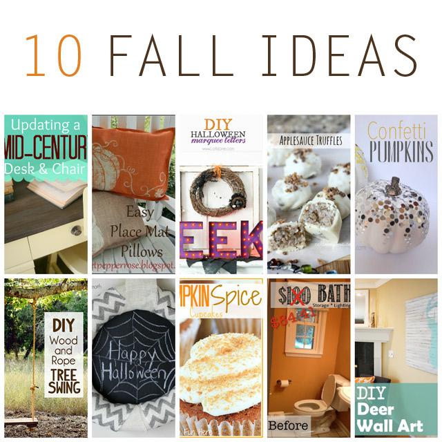 10 Fall Ideas - Crafts, DIY, Recipes