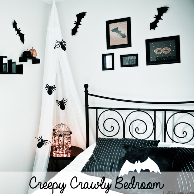 Creepy Crawly Bedroom Decor - Spiders and Bats