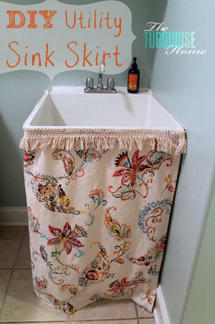 DIY Utility Sink Skirt Tutorial