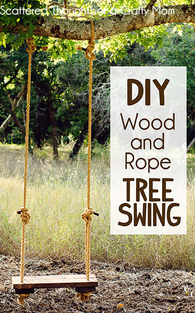 DIY Wood and Rope Tree Swing Tutorial