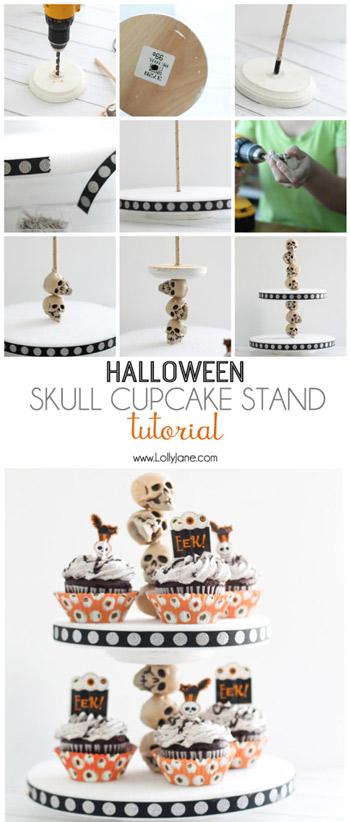 Halloween Skull Cupcake Stand Tutorial