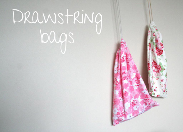 Drawstring Bags - Sewing Tutorial