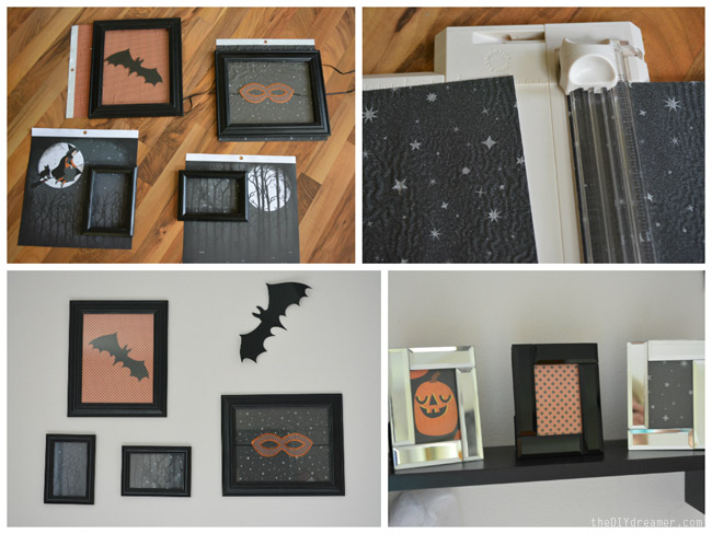 Make Halloween Collage Frames with scrapbook paper