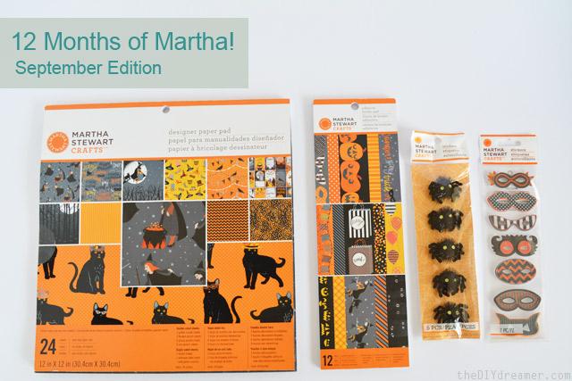 Orange and Black Scrapbook Supplies from Martha Stewart Crafts