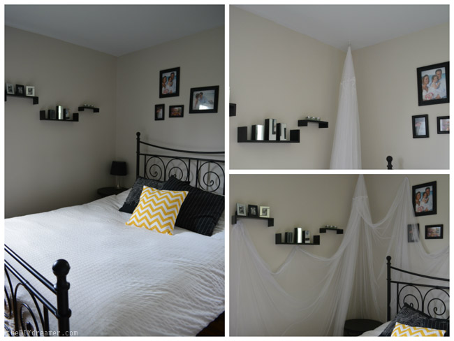 How to stick a sheer canopy onto a wall