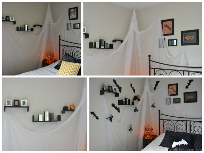 Creepy Crawly Halloween Bedroom