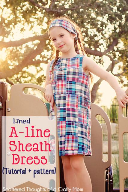 Girl's A-line Sheath Dress Tutorial and PDF Pattern