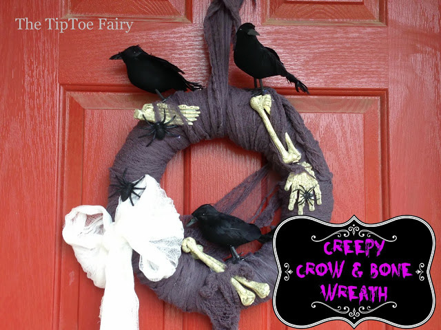 Creepy Crows and Bone Wreath Tutorial