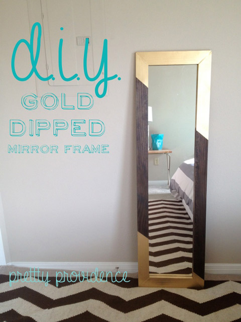 DIY Gold Dipped Mirror Frame