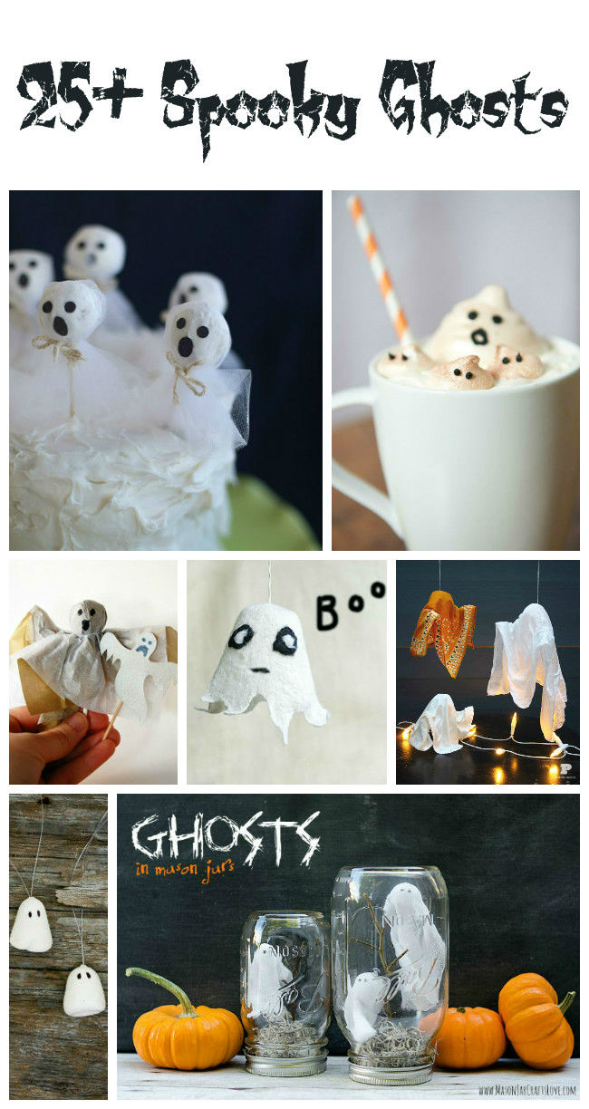 25+ Spooky Ghosts for Halloween - thediydreamer.com #Halloween #Ghosts