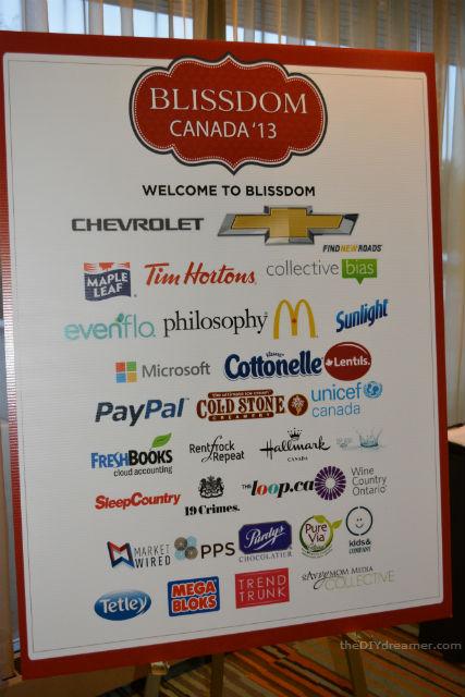 BlissDom Canada 2013 Sponsors
