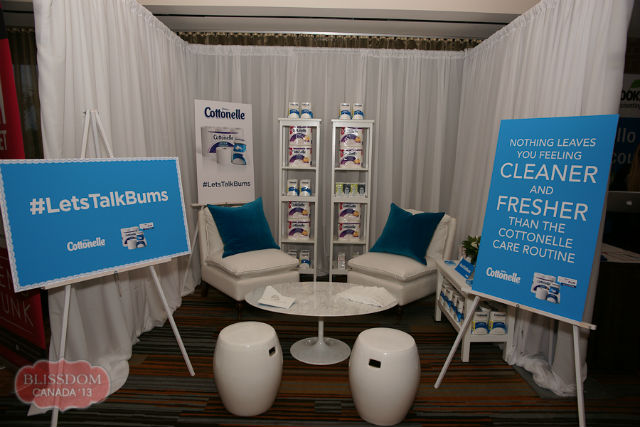 Cottonelle Booth at BlissDom Canada #LetsTalkBums